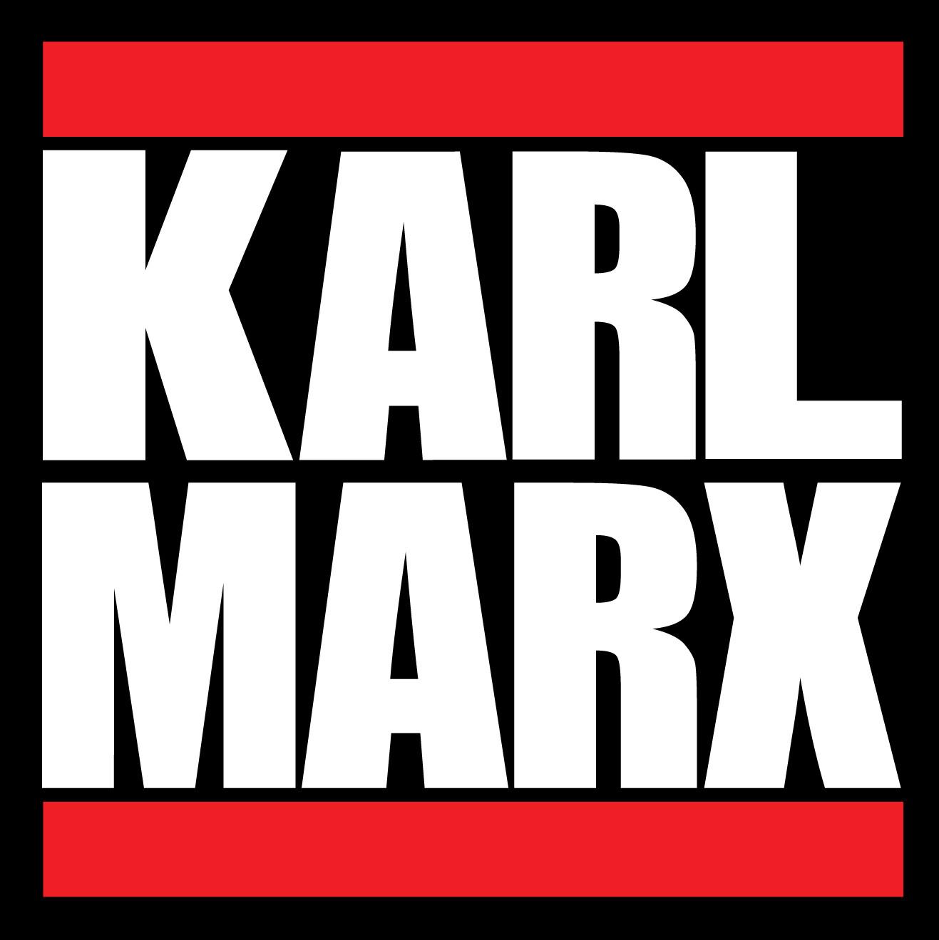 The final version of the Karl Marx/Run DMC hybrid sticker