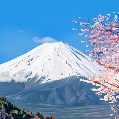 David okon fuji mountain