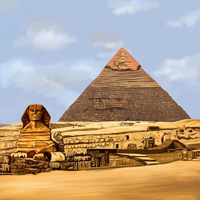 David okon pyramid of giza