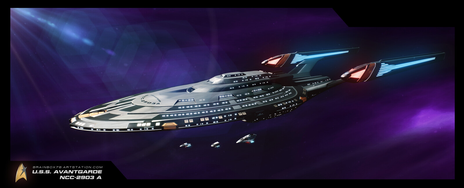 U.S.S. AVANTGARDE NCC-2903 WALLPAPER