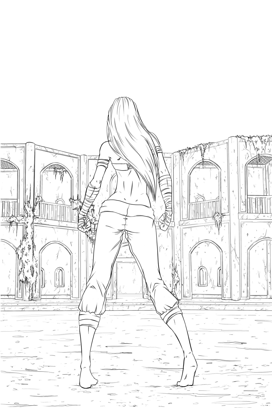 Issue 2 cover - Line art