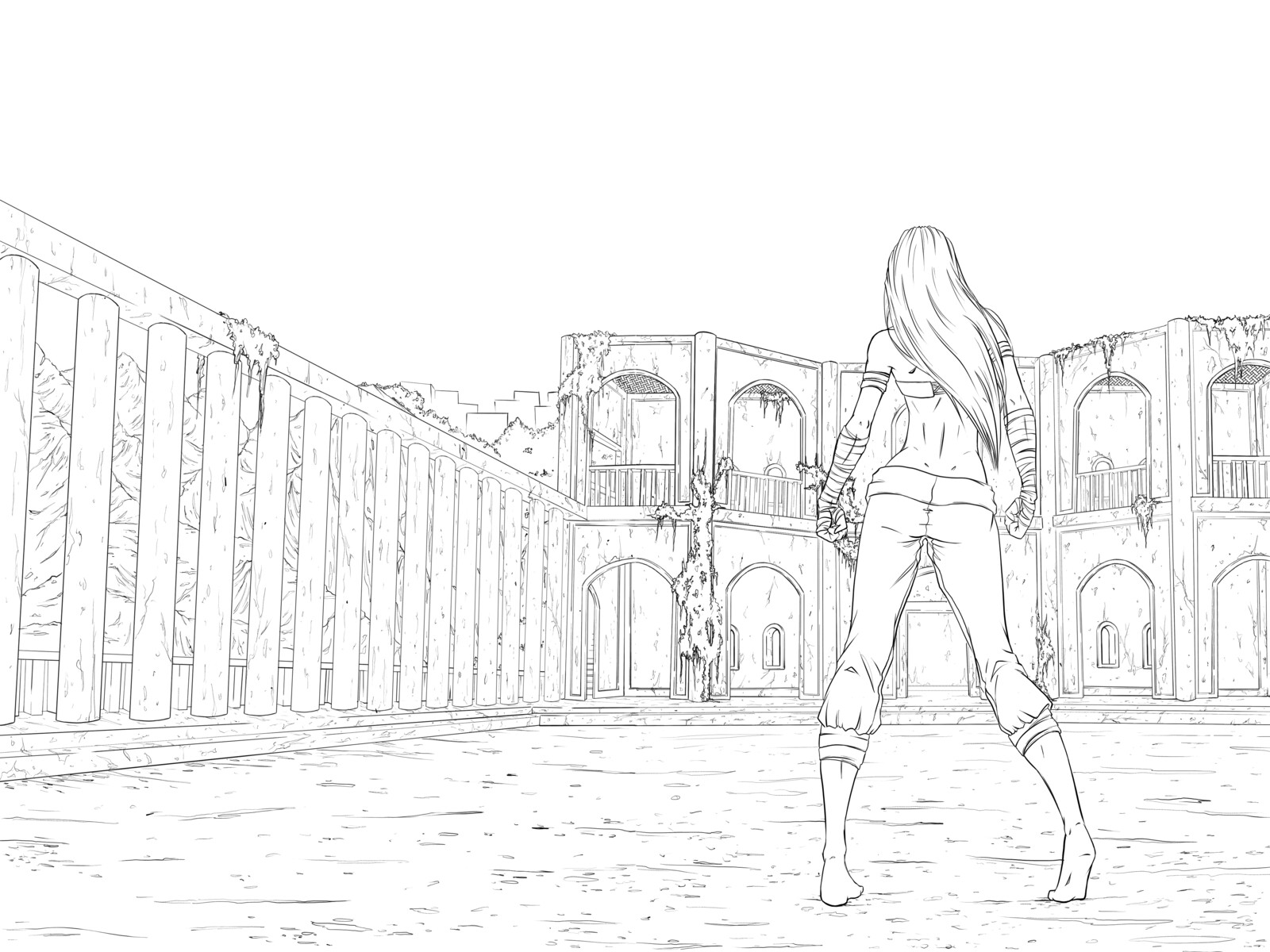 Issue 2 wrap around cover - Line art
