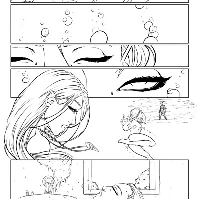 Samantha branch page 1 line art