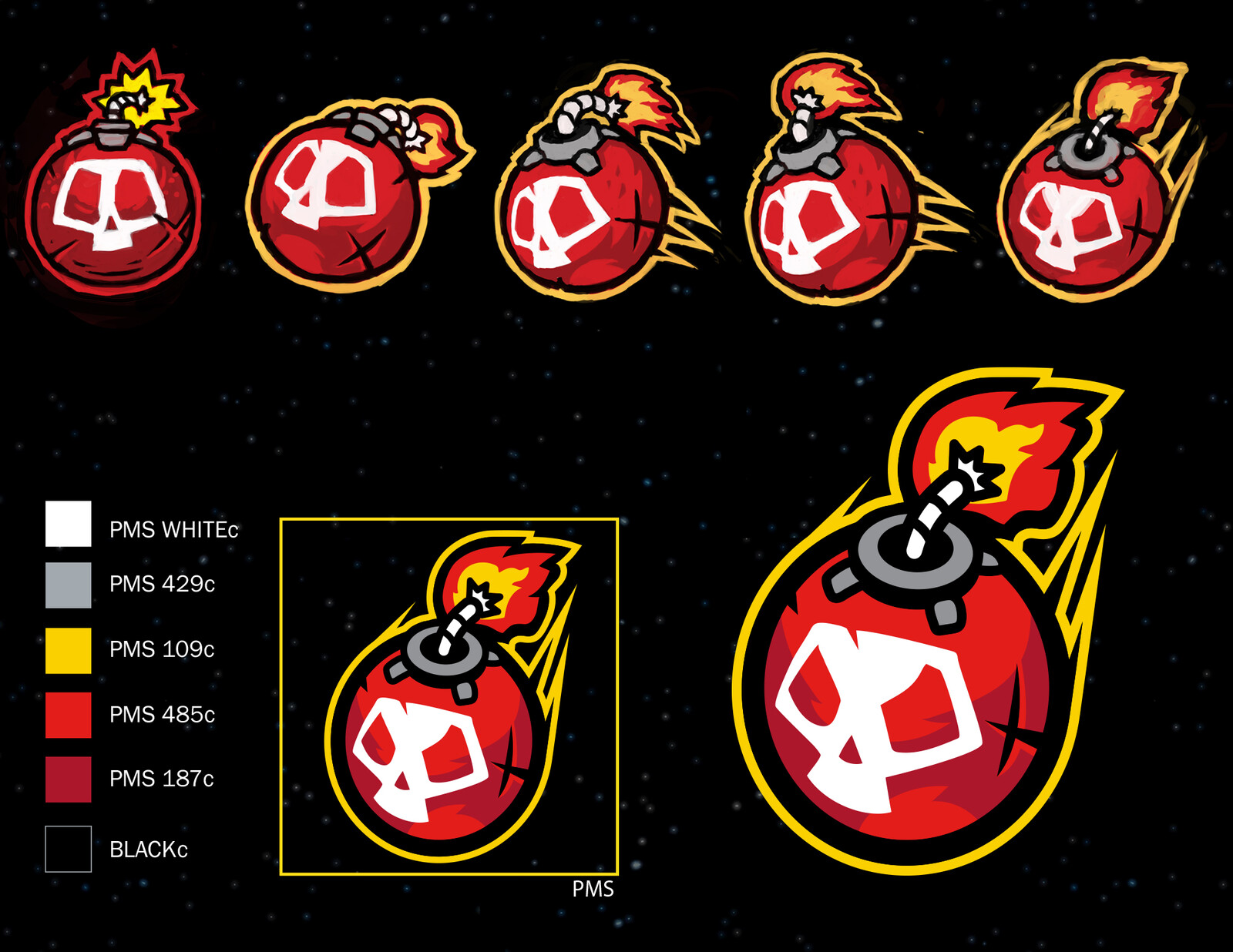 Variations and Final for Bomb Logo