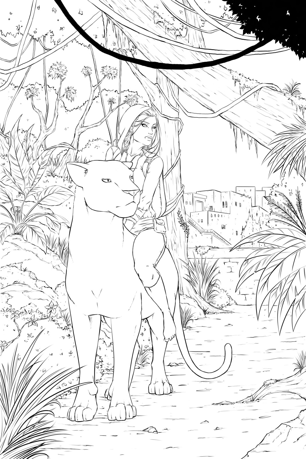 Issue 3 cover - Line art