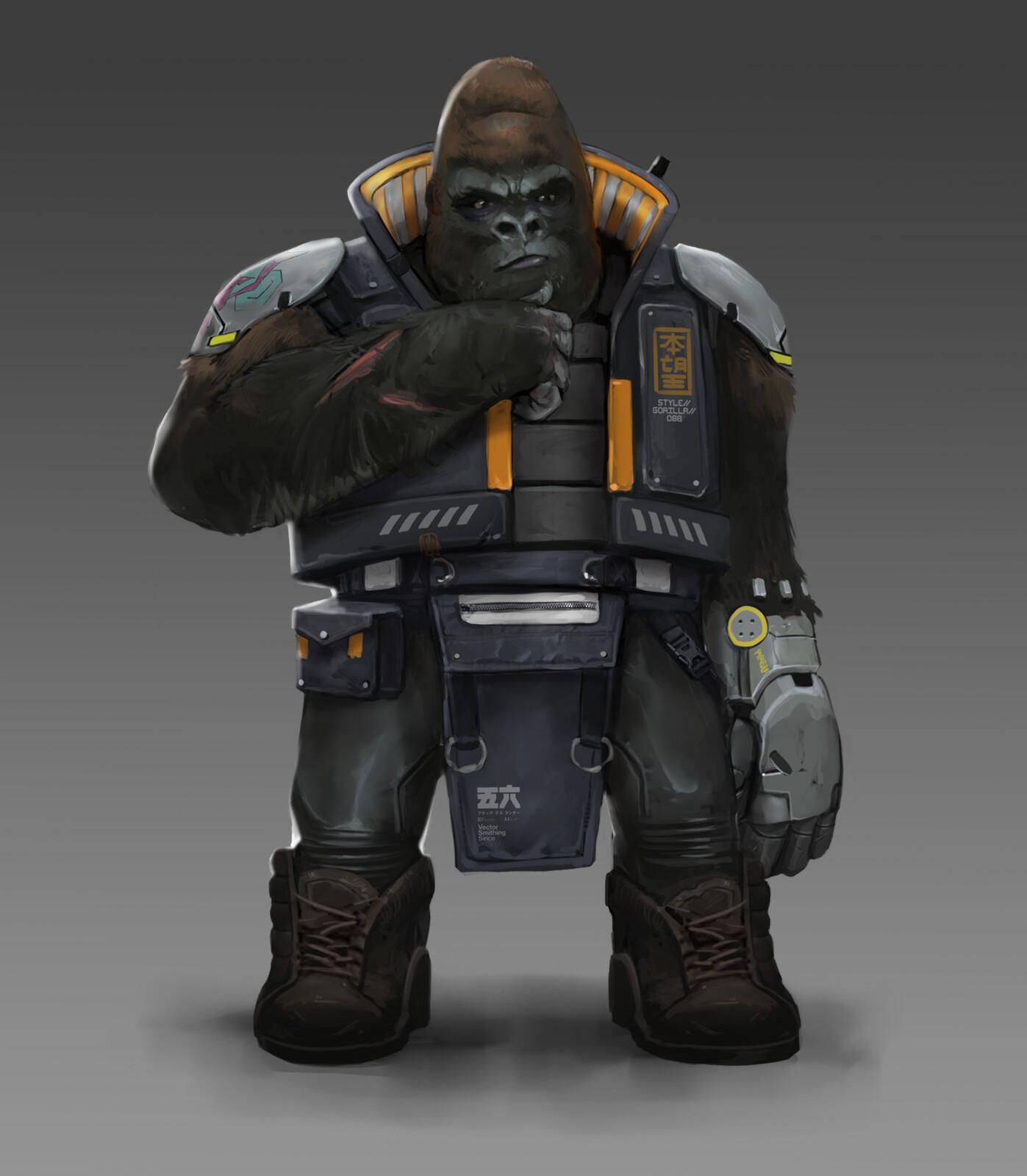 Cyber Punk Gorilla