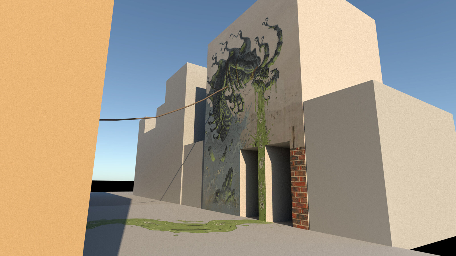 Some renders to showcase the mural from multiple angles.