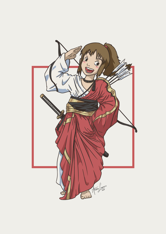 Artstation Chihiro Fanart From Ghibli Spirited Away Ariana Luberto