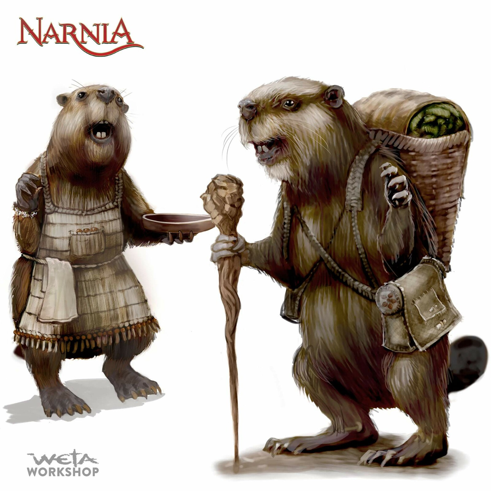 Narnia: Mr and Mrs Beaver Prop Design