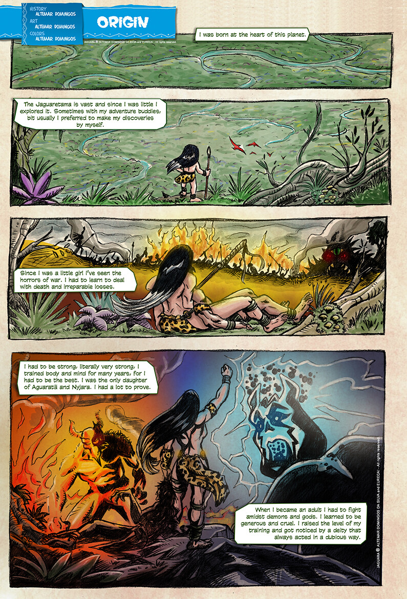 Origin of Jaguara - 1ª page