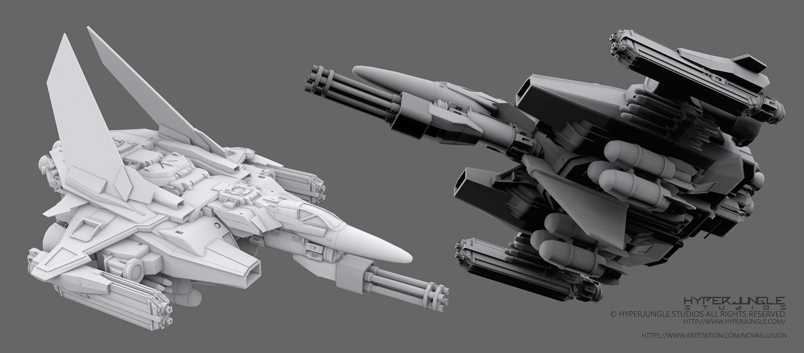 3D model of spaceship