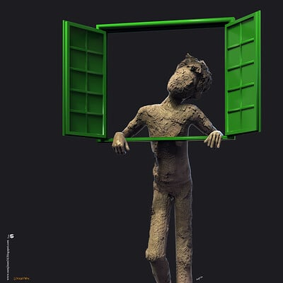 Surajit sen lockdown digital sculpture surajitsen maa2020a