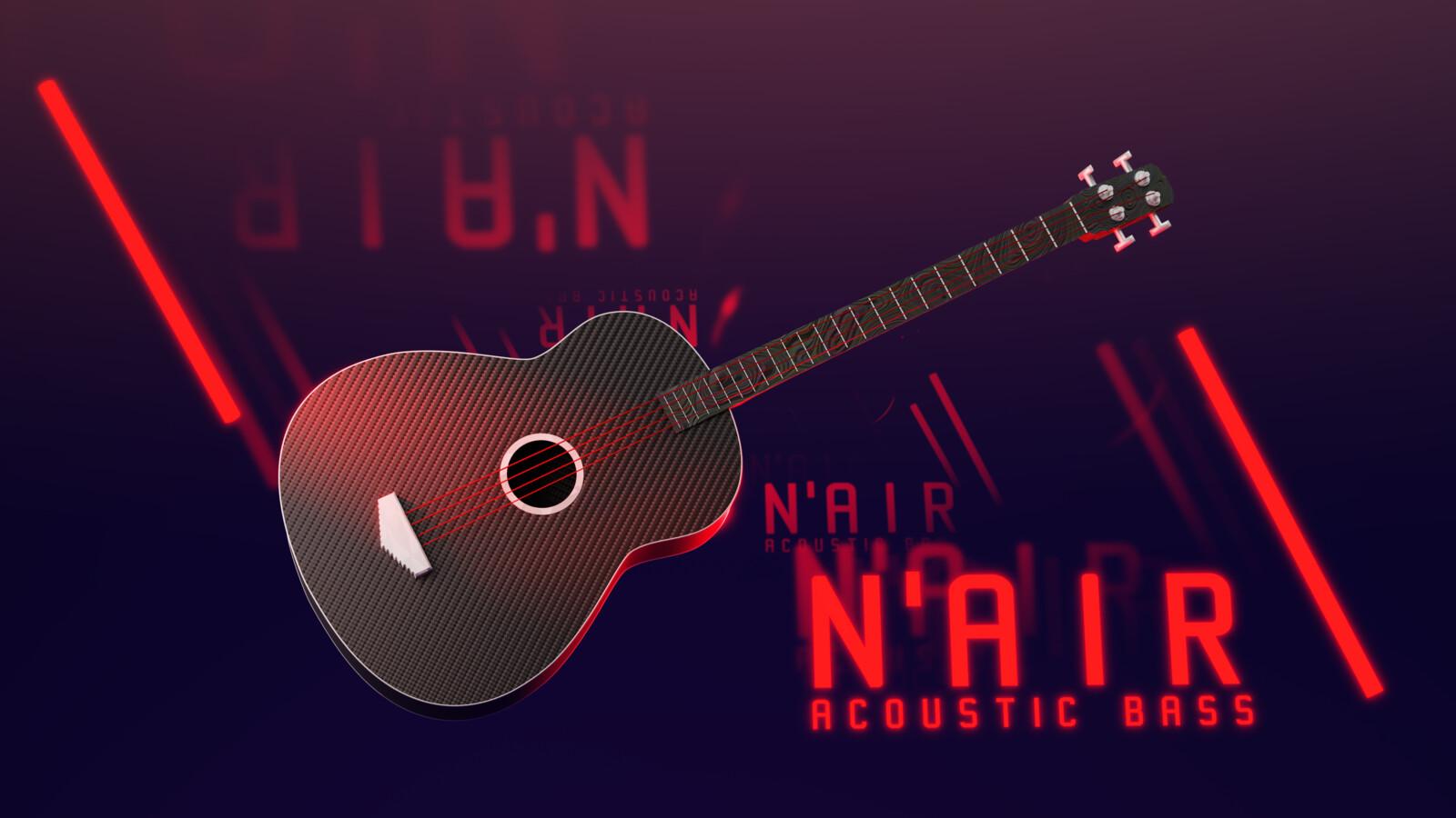 The final product. Full resolution can be found here: https://www.deviantart.com/leowattenberg/art/N-AIR-Acoustic-Bass-843928656
