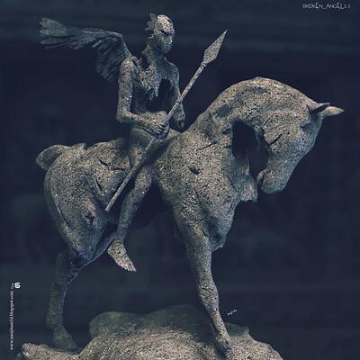 Surajit sen broken angel2 0 digital sculpture surajitsen may2020a