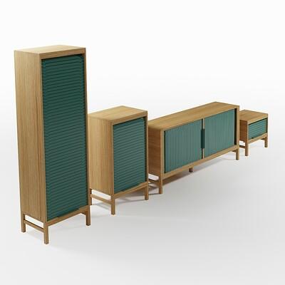 Jalousi Cabinet Set