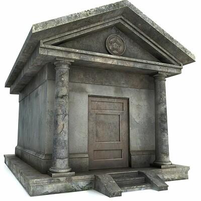 David doval mausoleum pbr 3d model low poly obj 3ds fbx mtl tga