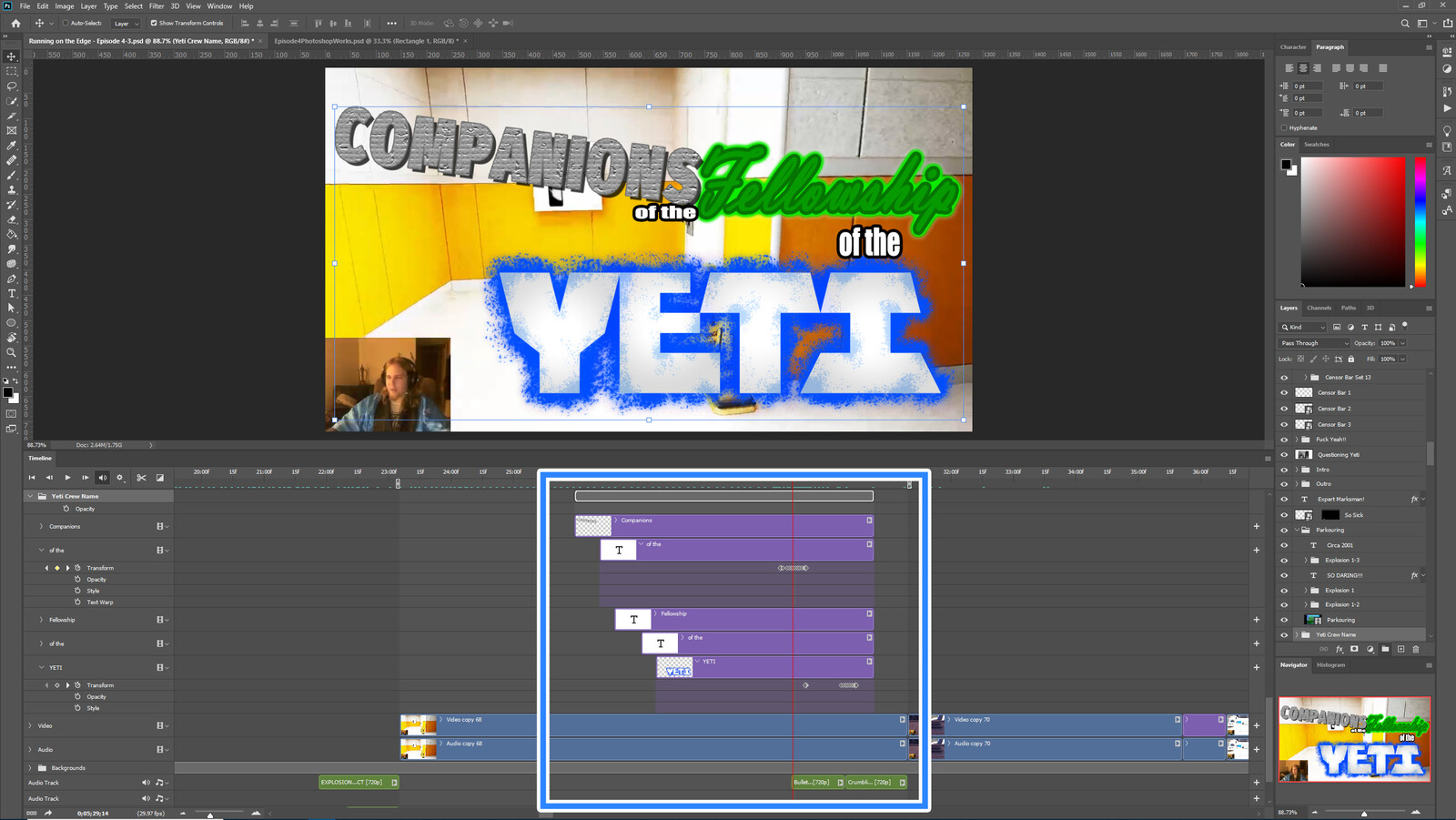 """The """"CotFotY #2"""" visual effect within Photoshop video editor"""