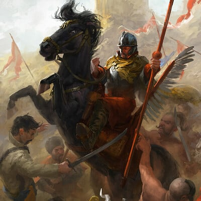 Polish Winged Hussar Bannerman