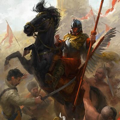 Polish Winged Hussar Bannerman