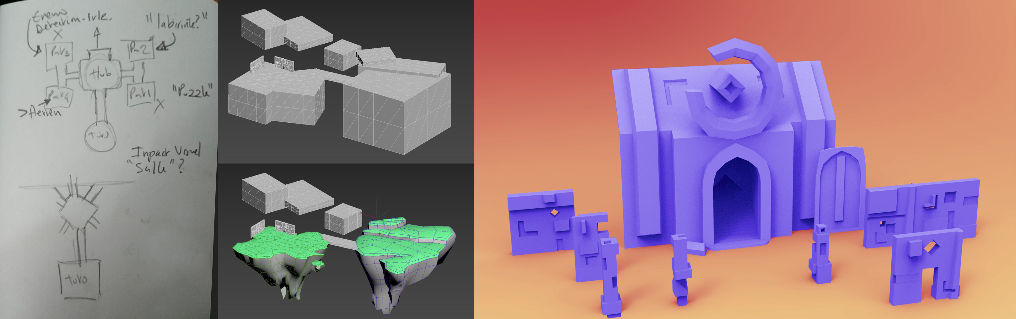 Level concept and modular props