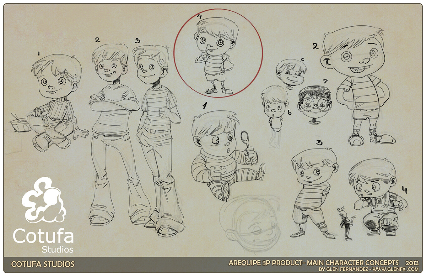 Initial character concepts.