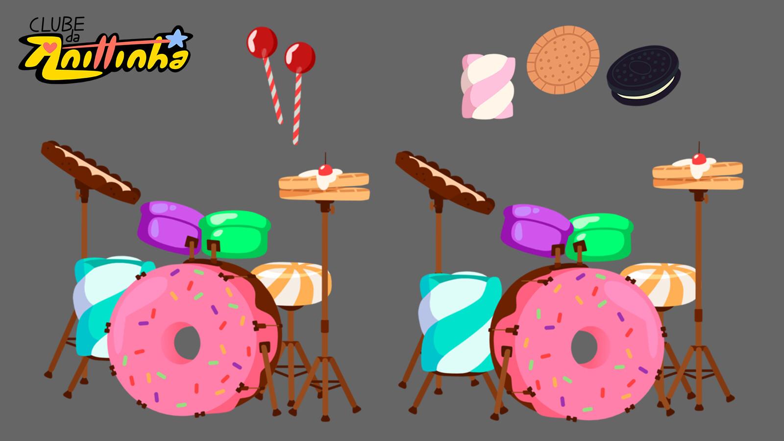 Prop Design - Candy Drums