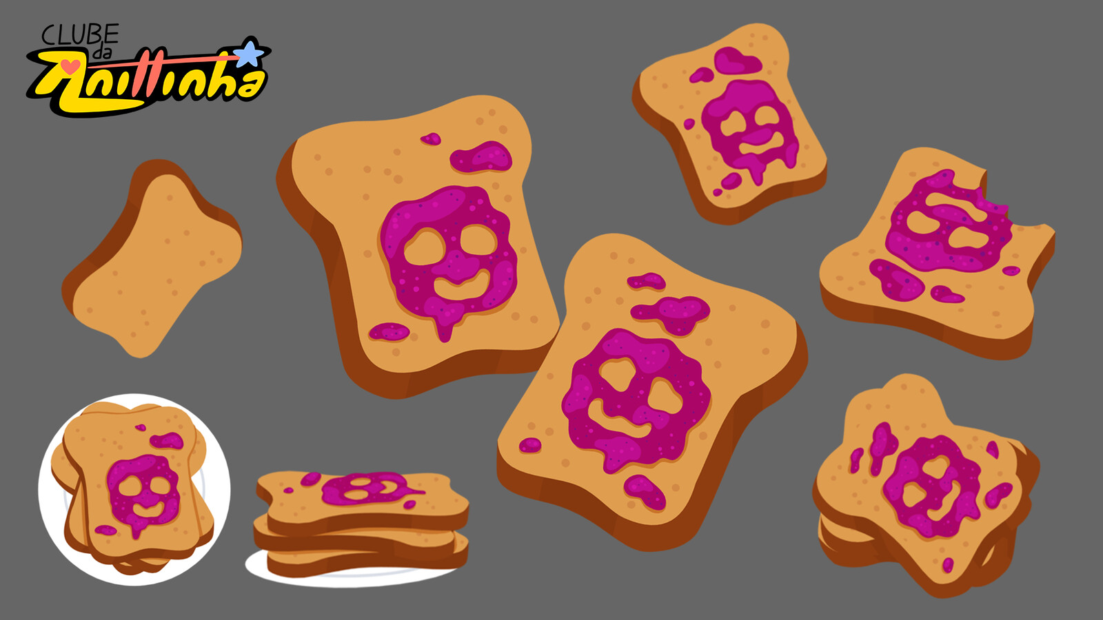 Prop Design - Toasts with jelly
