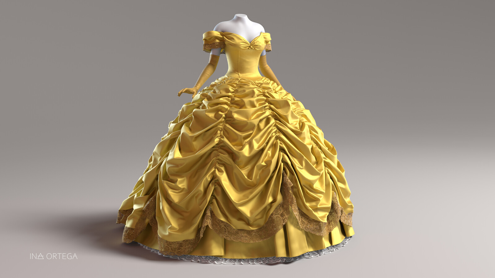 Belle's dress fan art
