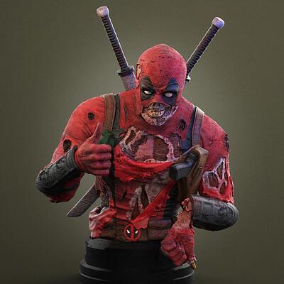 Alterton bizarre deadpool bust3