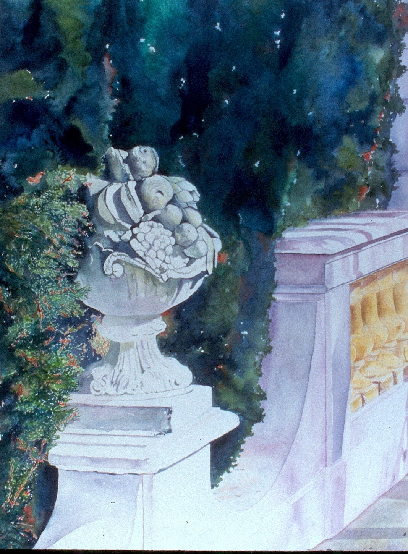 Balustrade and Gardens