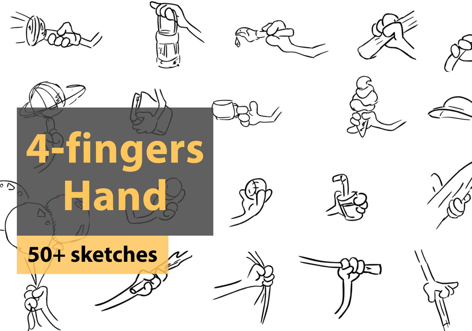 Character Design, 50+ hands