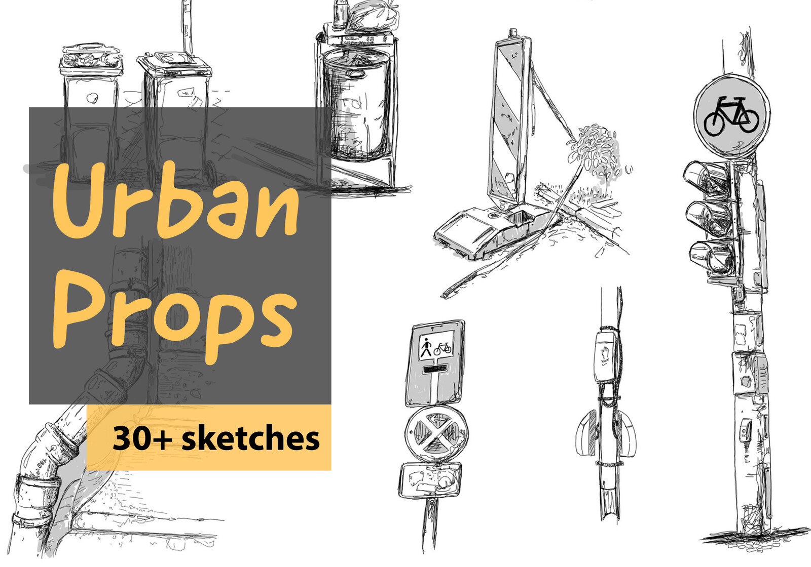 Urban Props, 30+ sketches