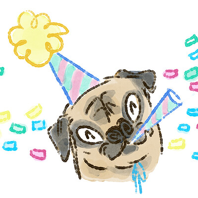 Miriam gibson party pug