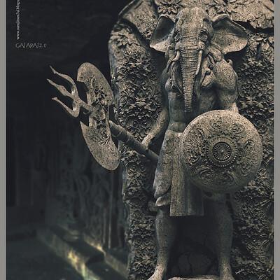Surajit sen gajaraj2 0 digital sculpture surajitsen june2020a