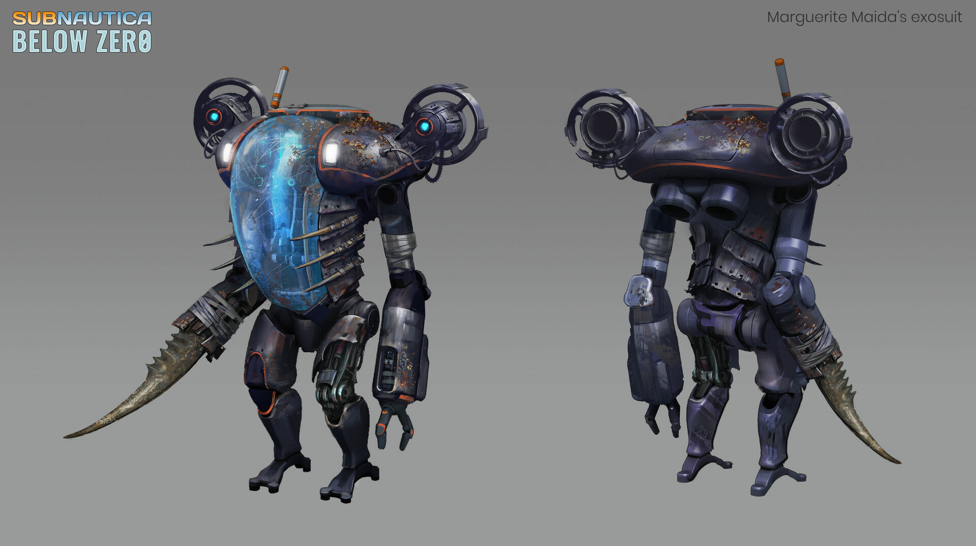 Marguerite's exosuit for deep water travelling.