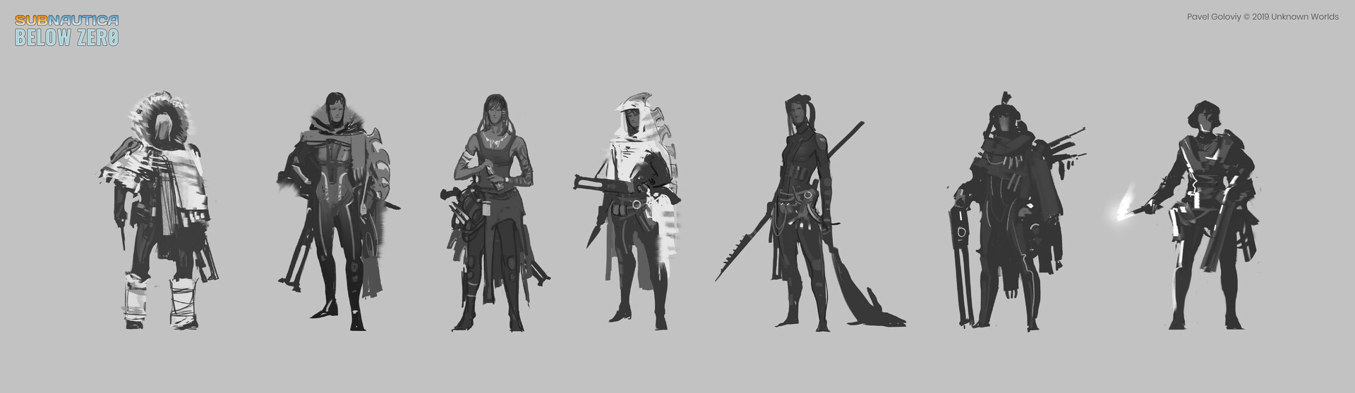 Preliminary sketches for Marguerite character.