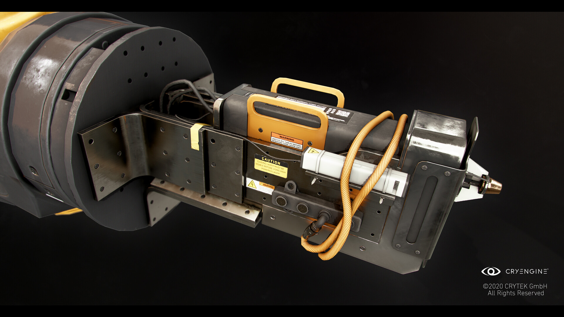 Portable laser prototype attachment