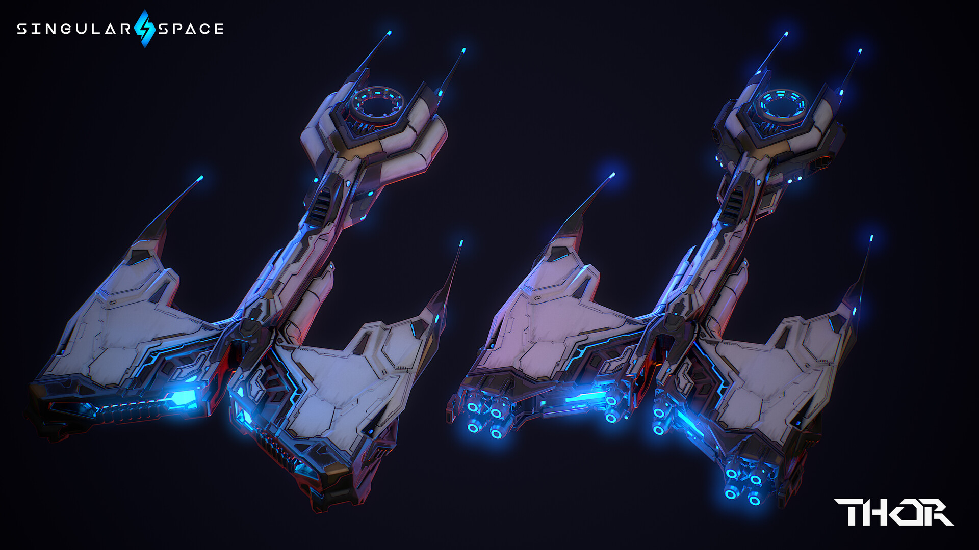 Thor with different modules equipped