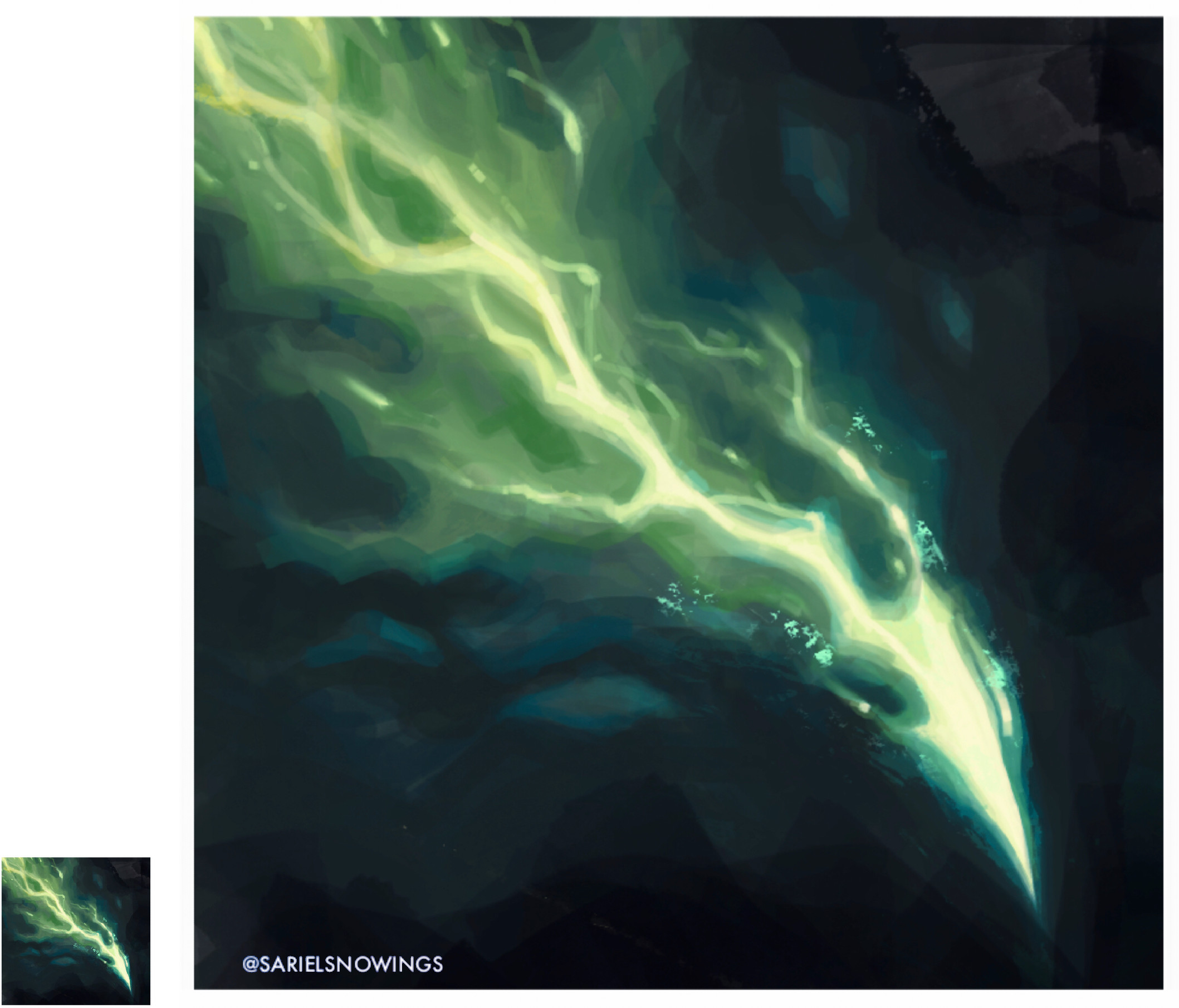 """This green spell was inspired by the """"Eldritch Blast"""" from D&D."""
