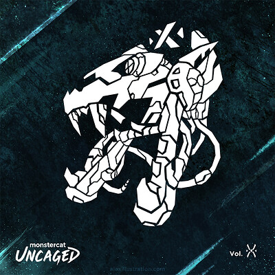 Alex illustration monstercat uncaged vol x artwork