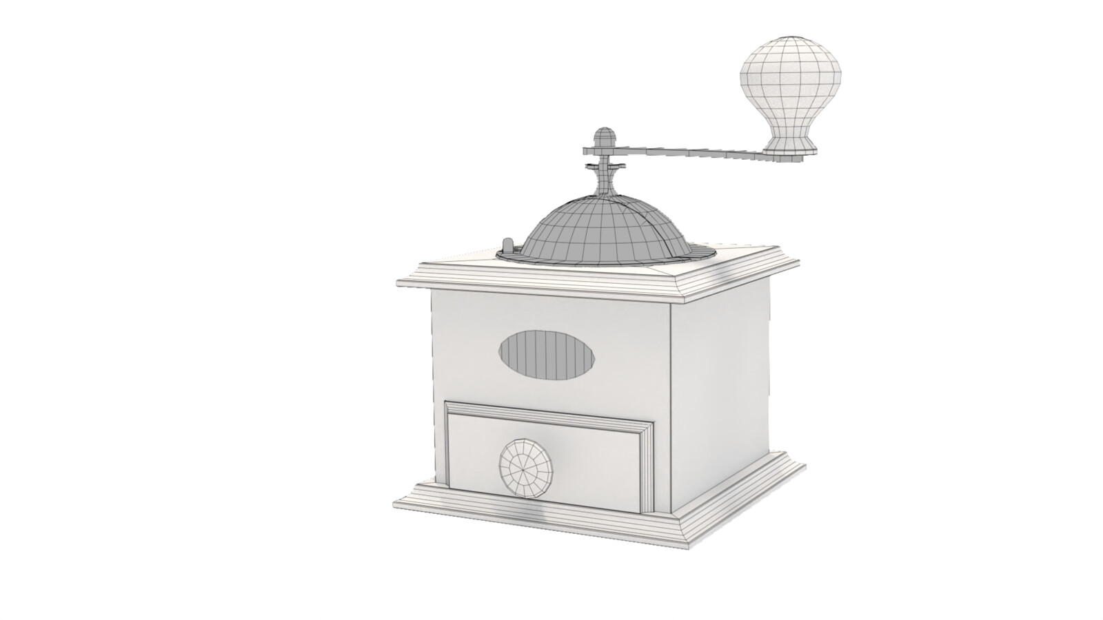 Coffee Mill -Wireframe