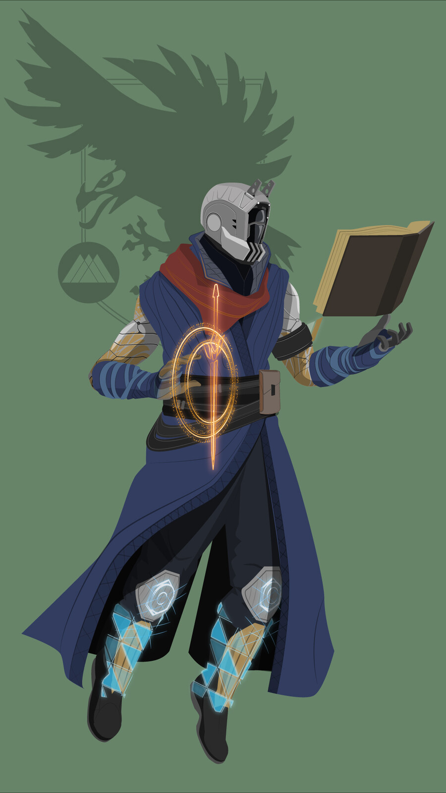 Some noodling character art of my Guardians