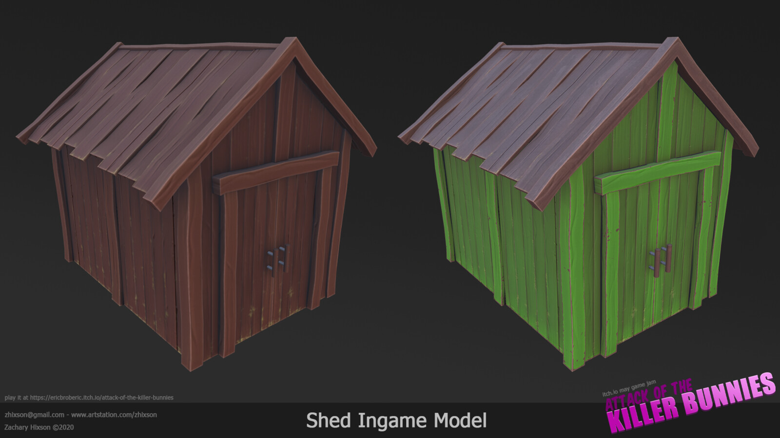 I was only responsible for the texturing of this shed. It was hastily done at the last minute in Substance Painter.