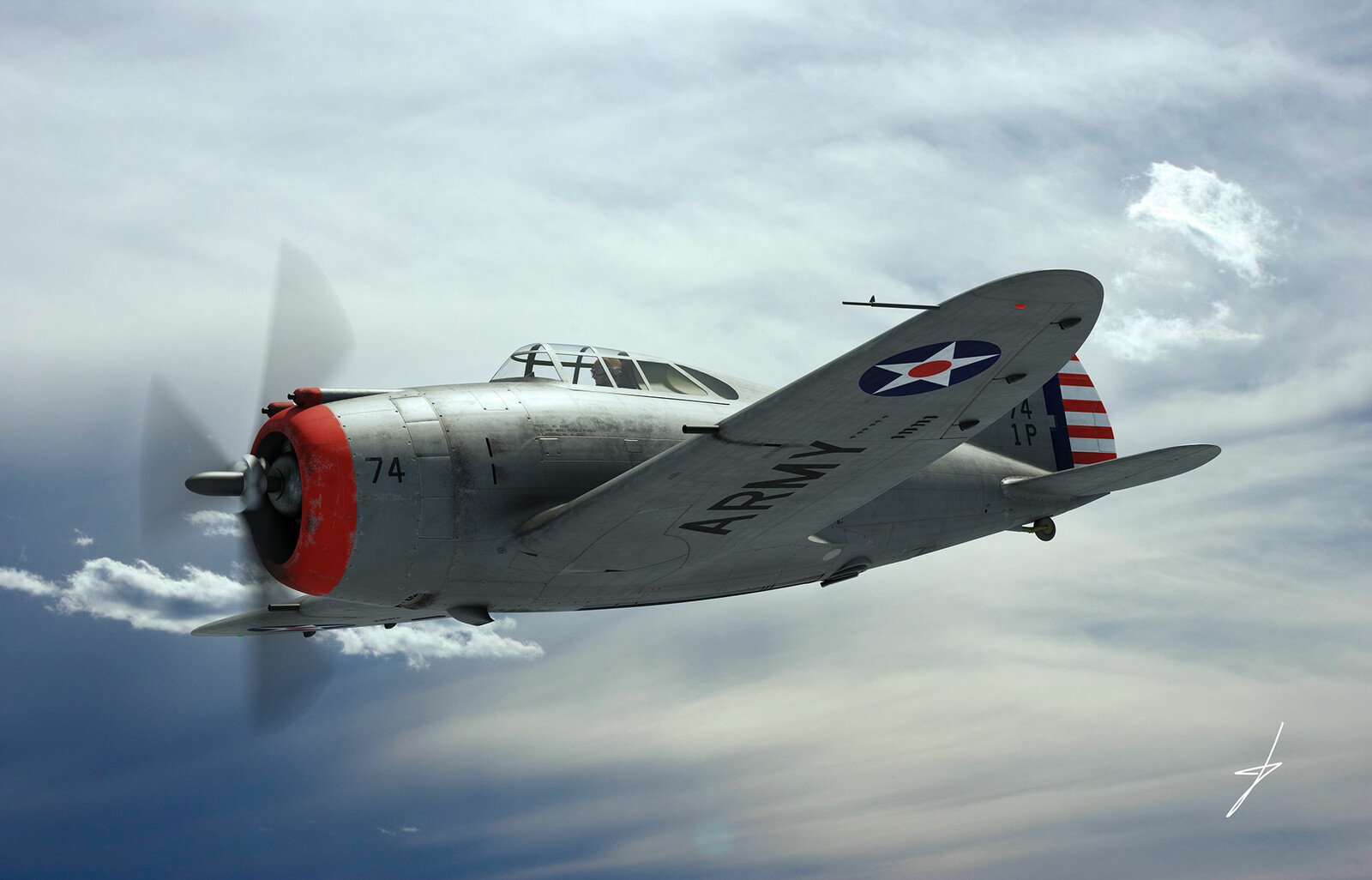 Republic YP-43 Lancer, 1941