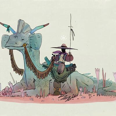 Corentin asproni cavalier au dragon finalise sans visageinprint