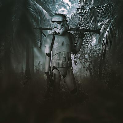 Andreas bazylewski stormtrooper in the jungle