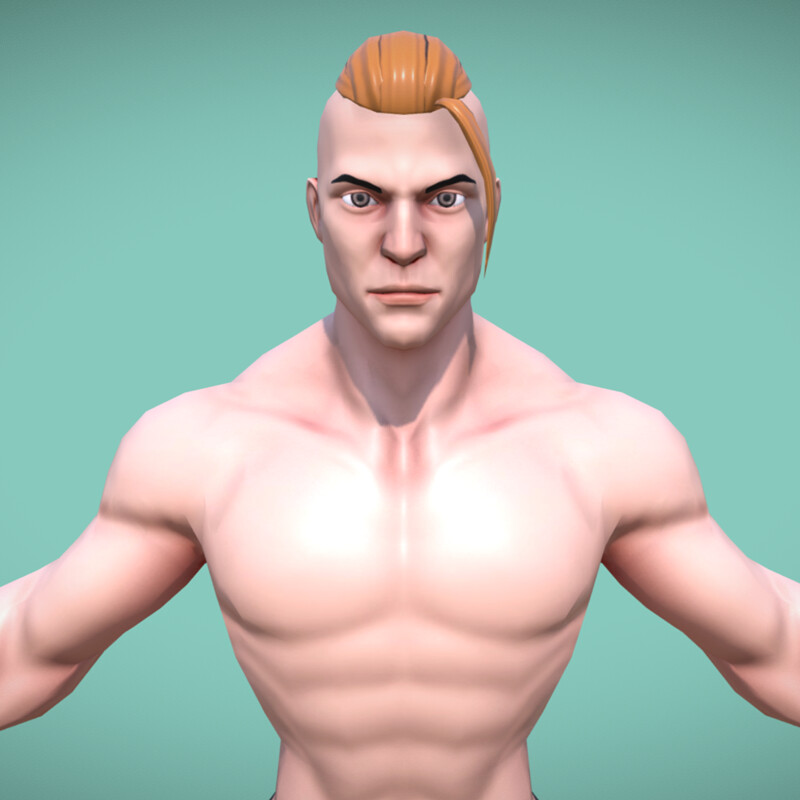Stylized Male Character - Gym - Rigged