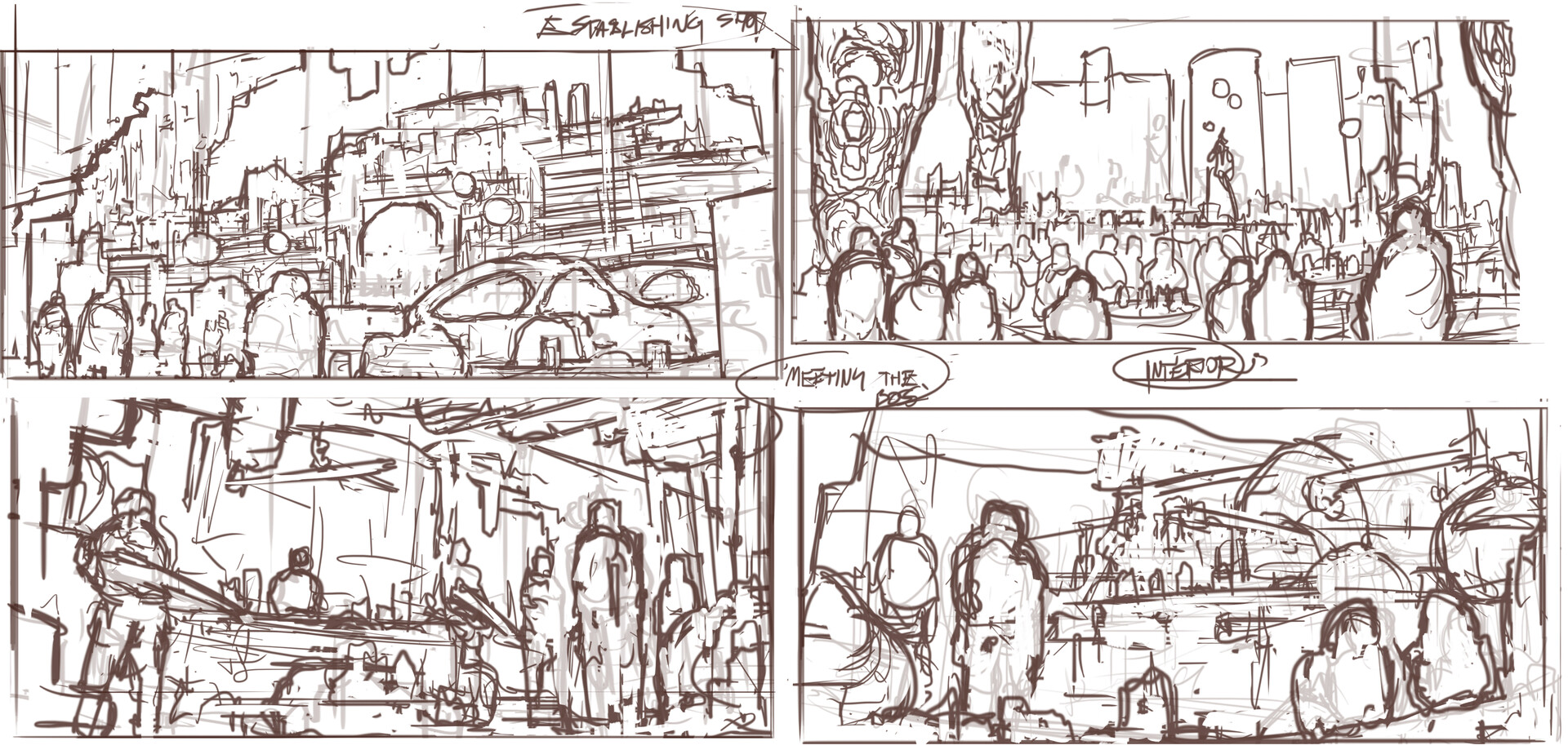 Keyframe sketches