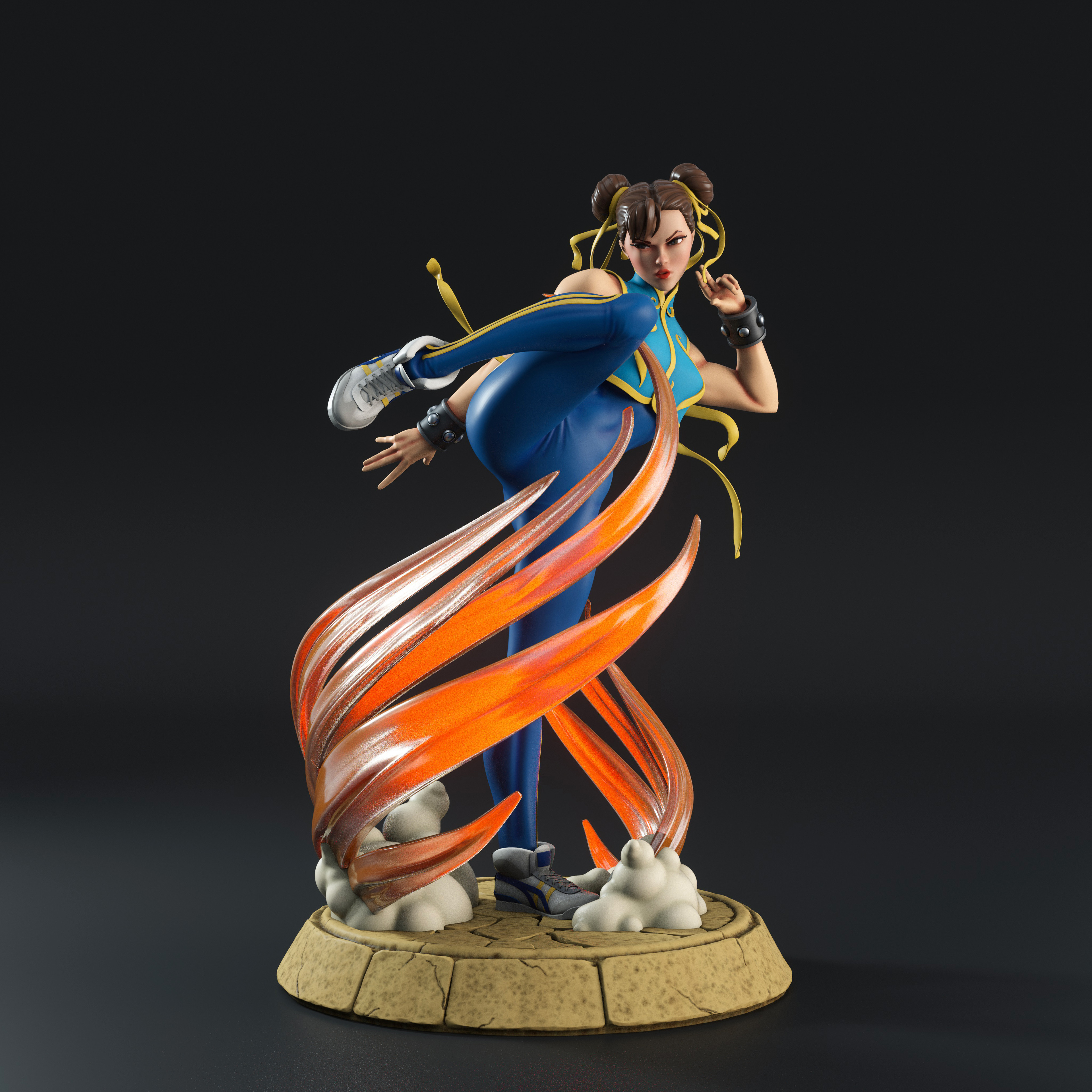 Artstation Street Fighter Chun Li Statue Mike Heath