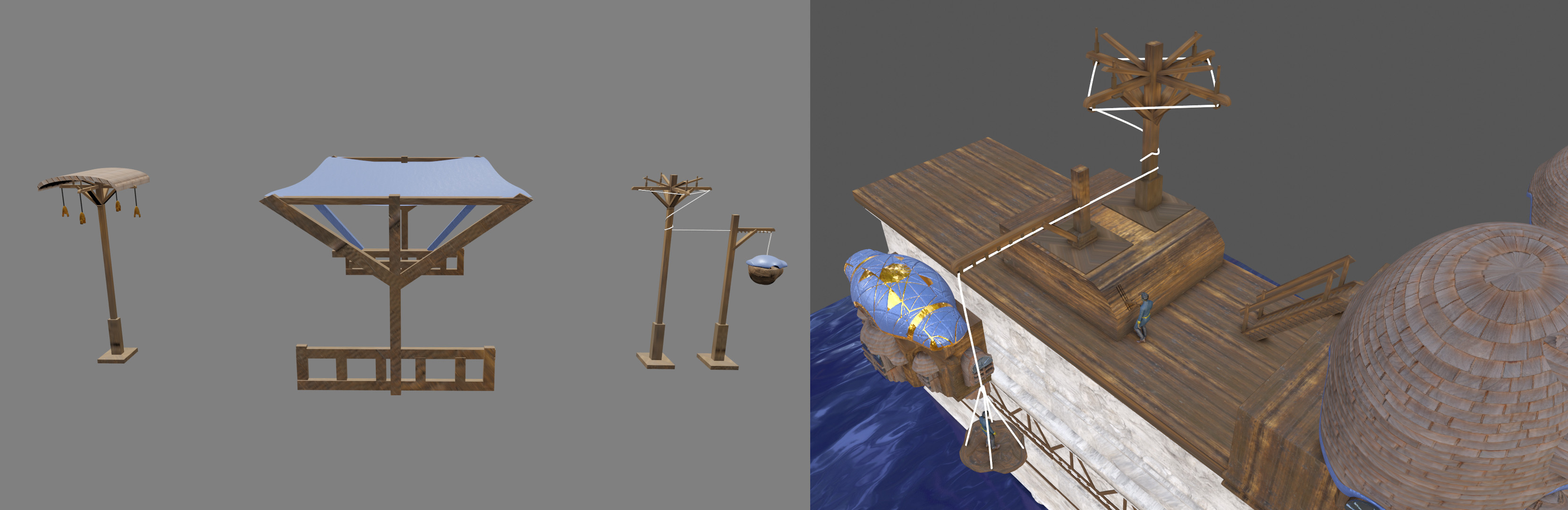 I also had an idea for a waterwheel-lift system and some other props which I'd like to explore further at some point :)